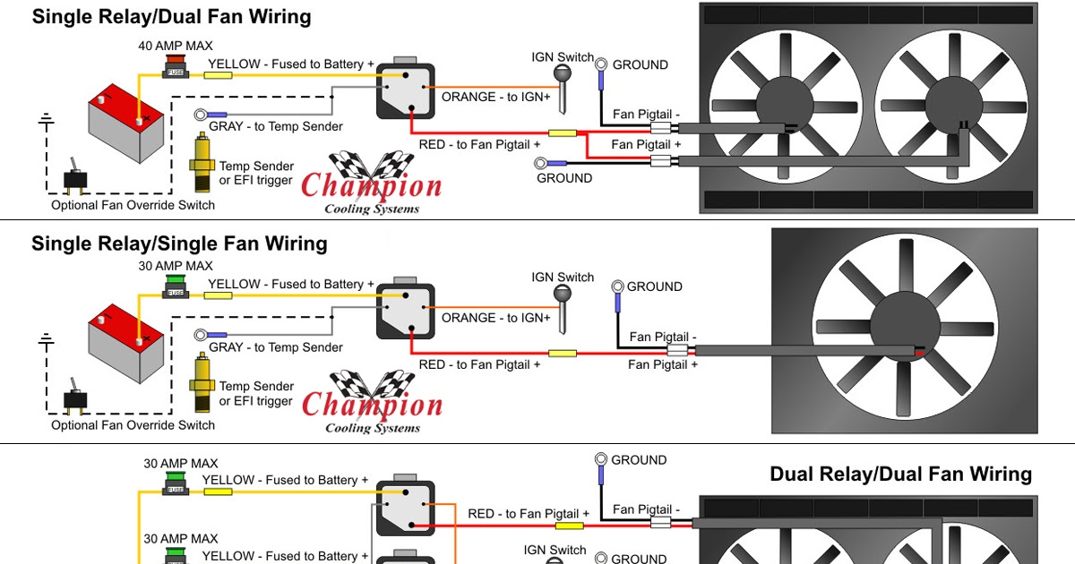 Relay Wiring Diagram For Dual Fans