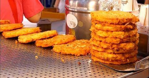 Bánh bắp Hàn Quốc chiên xù giòn rụm Ẩm thực đường phố Hàn Quốc