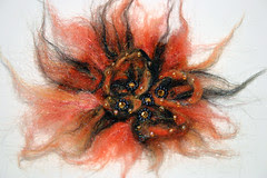 The MUM - Needle Felted Universe Inspired Wearable Art Brooch