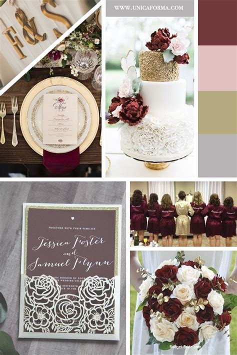 Burgundy and gold wedding. Burgundy blush and gold wedding