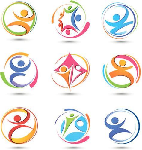 abstract vector logo design  vector