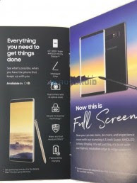 Leaked promotional materials for the Galaxy Note8
