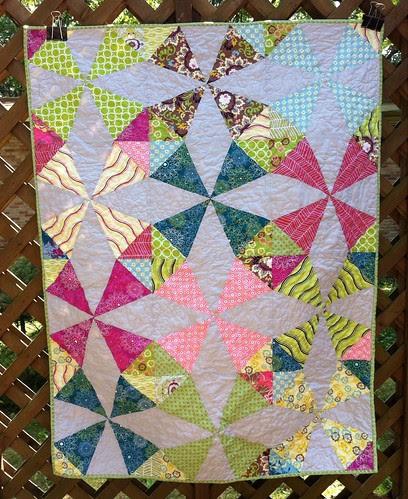 Kaleidoscope baby quilt
