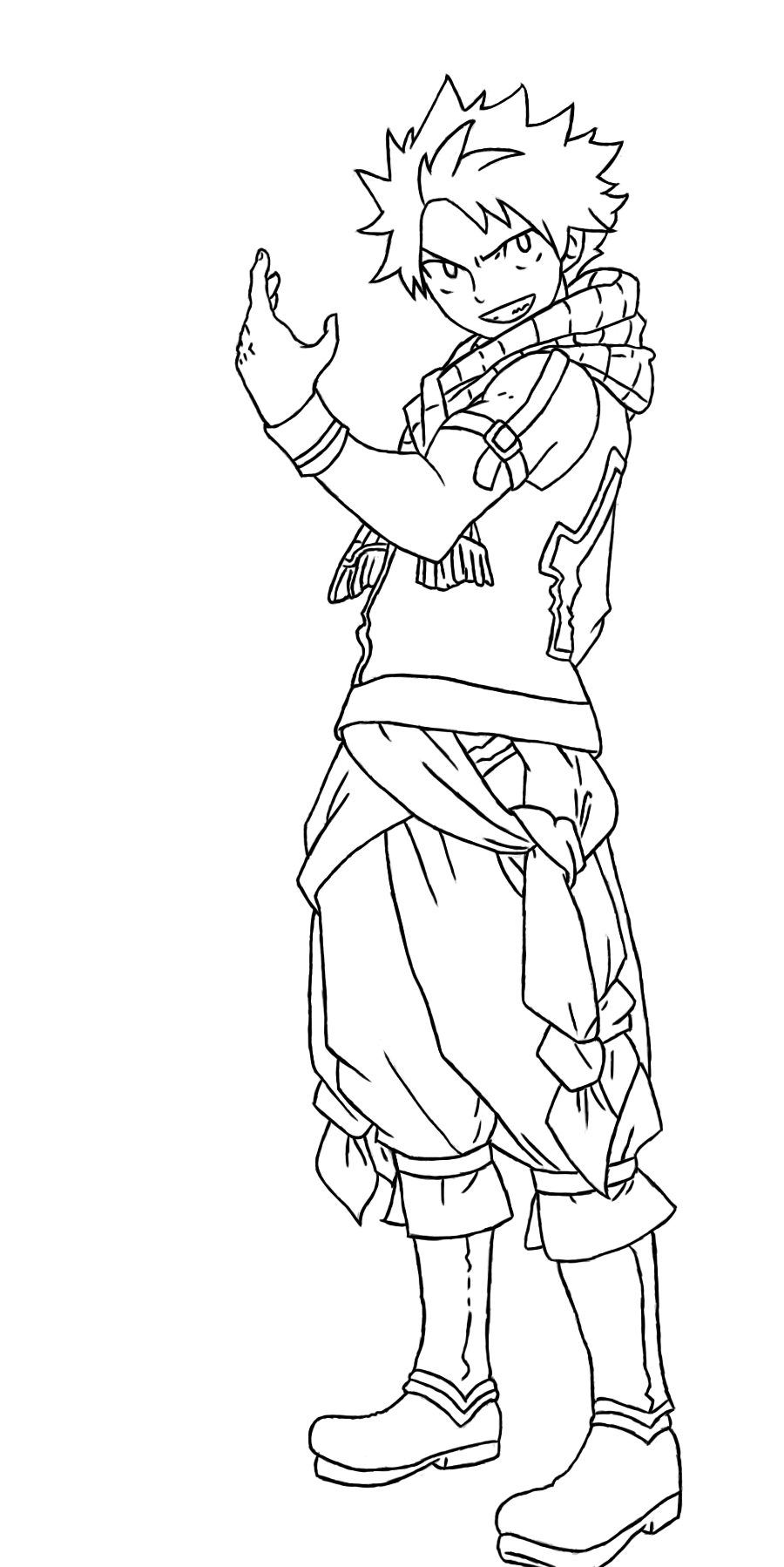 Natsu Dragneel Coloring Pages Coloring Pages