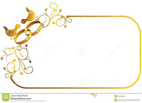 Frame With Wedding Ring And Birds Stock Vector