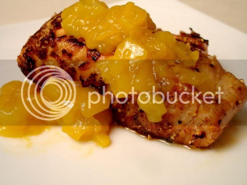Cornmeal Crusted Mango Salmon