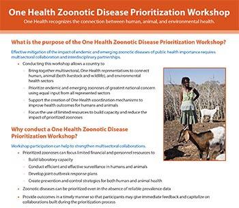Factsheet: Zoonotic Disease Prioritization Workshop