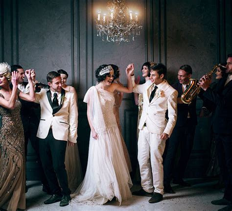 Romantic Wedding Inspiration from The Great Gatsby   Green
