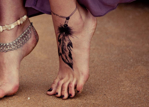 Cute Dreamcatcher Tattoo On Foot For Girls Tattoomagz