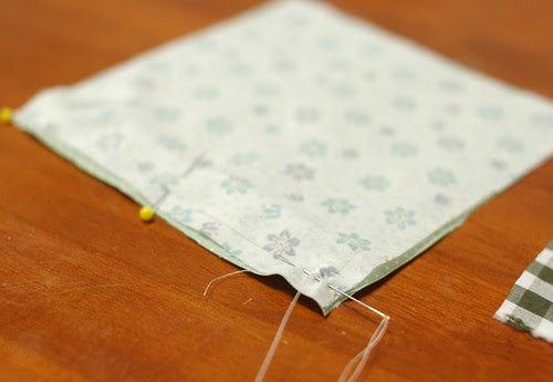 How to make a patchwork cube drawstring bag 2