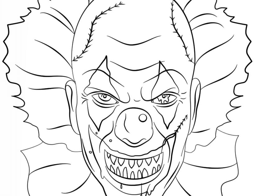 ausmalbilder horror clown