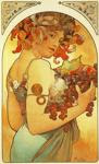 Alphonse Mucha.  Fruta.
