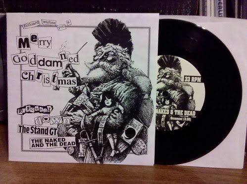 "With 1 day to spare, it's the Merry Goddamn Christmas 7"" w/ The Stand GT. Thanks @chrispager !"