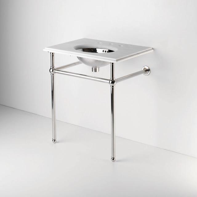Metal Round Two Leg Single Washstand | Waterworks - traditional ...