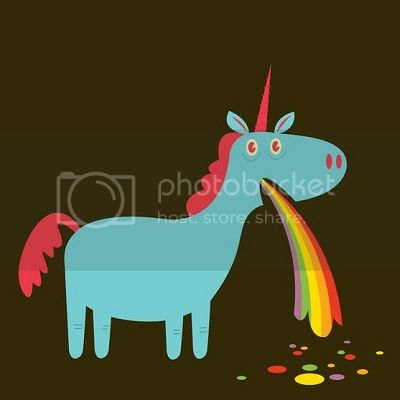 unicorn rainbow vomit image