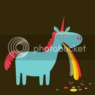 unicorn rainbow vomit image