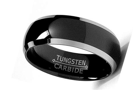 mens black wedding ring  black diamonds