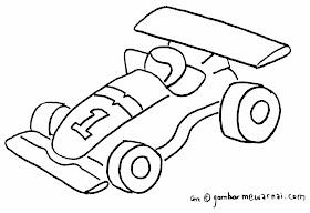 Sketsa Mobil Kartun