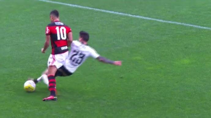 Ederson, Corinthians x Flamengo (Foto: Reprodução)
