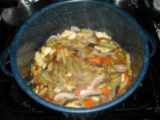 Spring Garden 2010 End of the Garden Pickles cooking