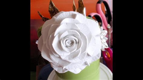 How to make Foam Flower, DIY, Tutorial Foam Rose #2   YouTube