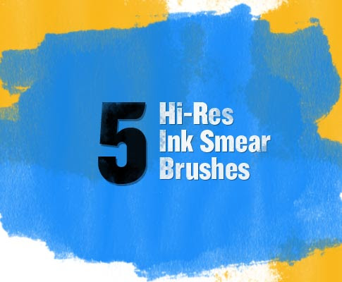 Free Photoshop Brush Sets Ink Smear Brushes