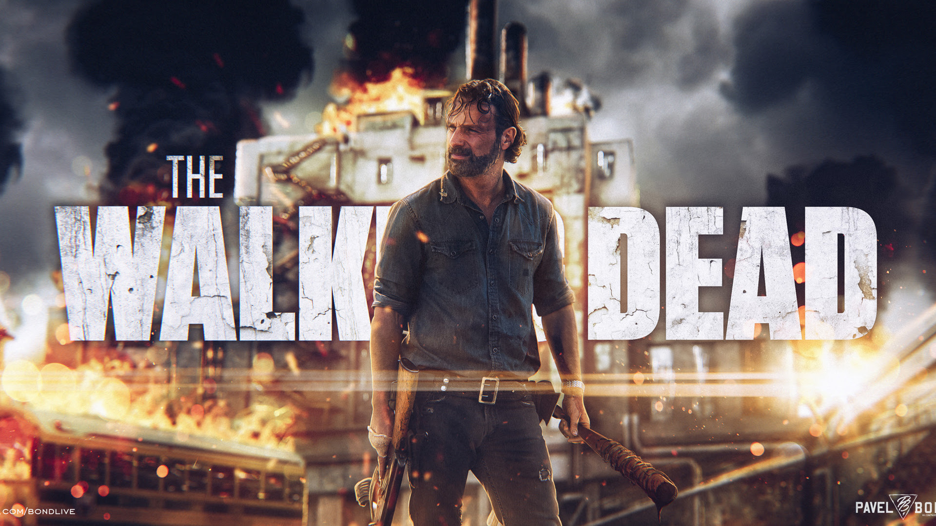 Andrew Lincoln As Rick Grimes In The Walking Dead Wallpapers Hd