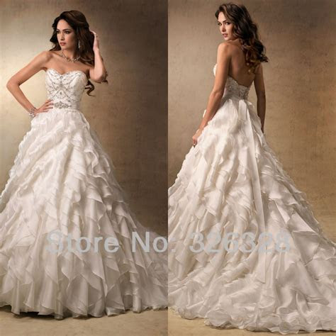 2013 Sparkle And Ruffles Sweetheart A Line Court Train
