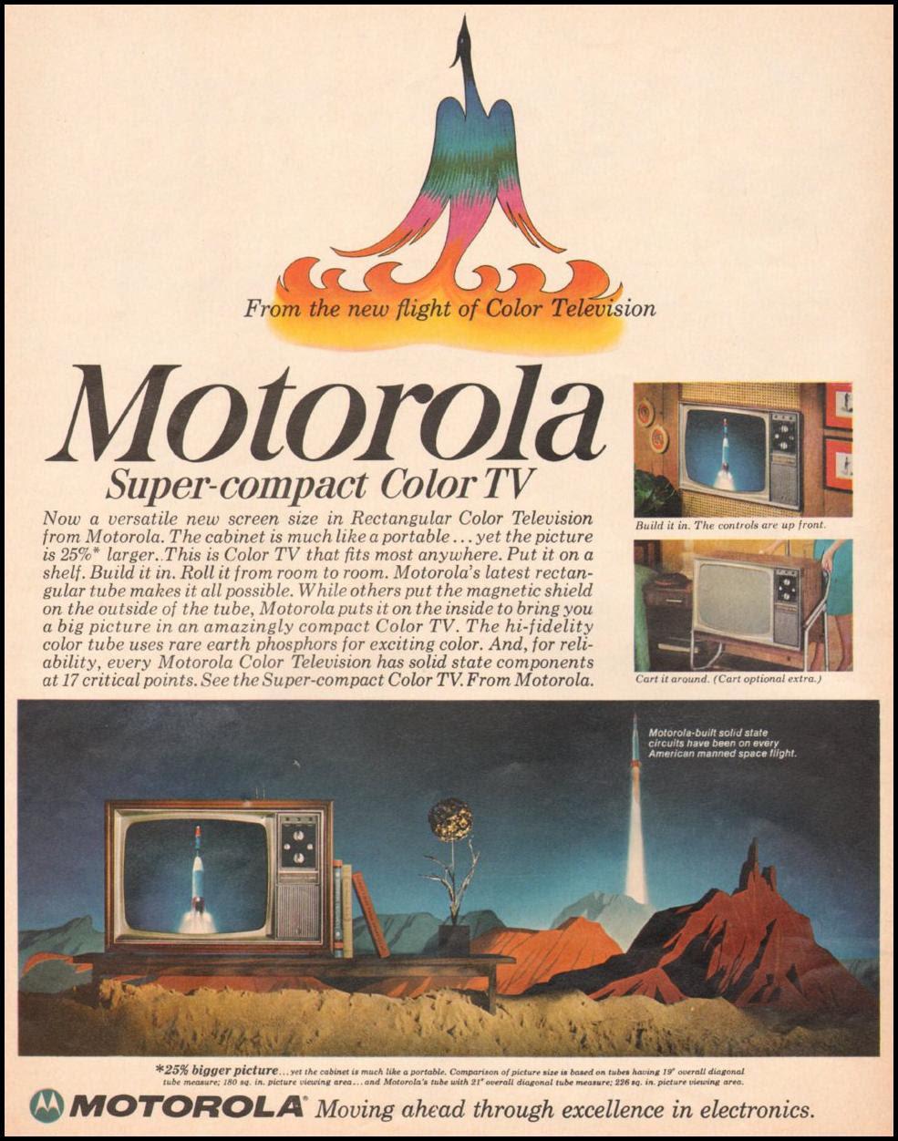 MOTOROLA SUPER-COMPACT COLOR TV LIFE 11/04/1966