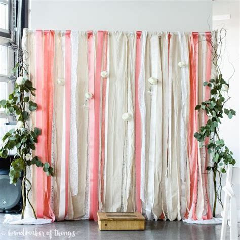 Lace and Ribbon Wedding Backdrop   Handmaker of Things
