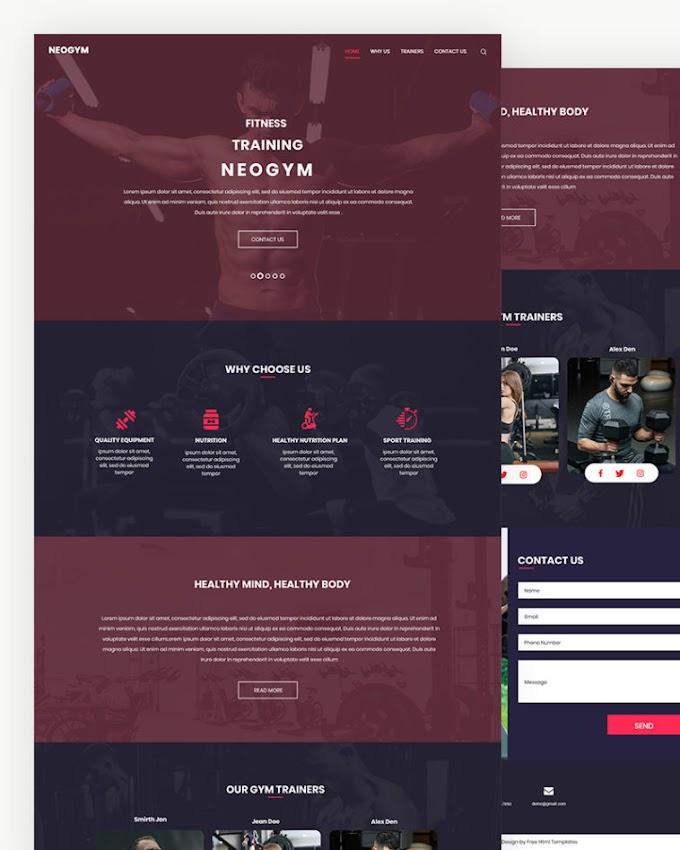 Neogym – Free Gym Website Template