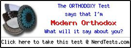 The Orthodoxy  Test -- Make and Take a Fun Test @ NerdTests.com's User Tests!