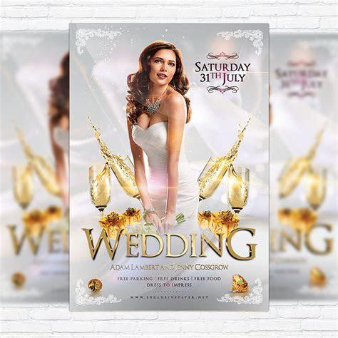 Wedding ? Premium Flyer Template   Facebook Cover