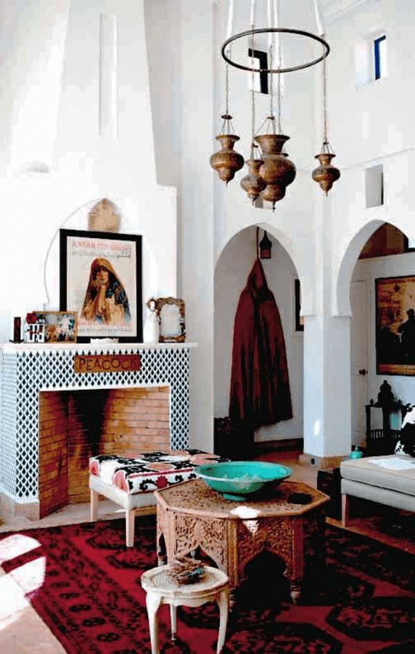 orientalische wohnzimmer ideen