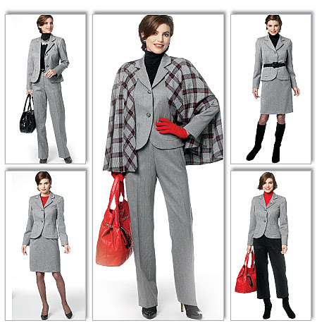 Butterick Misses' Cape, Jacket, Skirt and Pants 5687