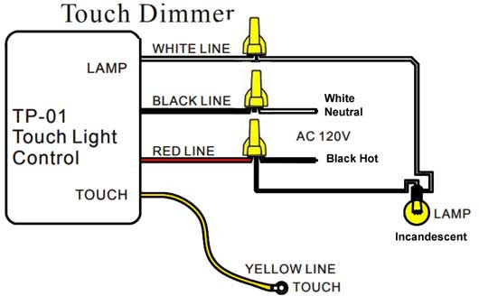 Wiring Diagram Touch Light Control