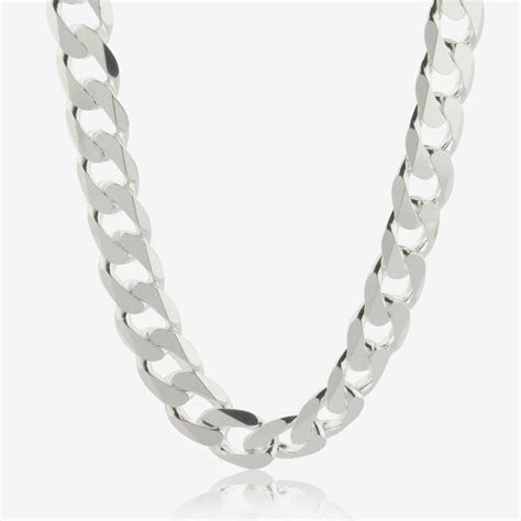 """Sterling Silver 22"""" Curb Chain"""