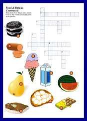 Foods and Drinks Crossword