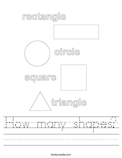 How many shapes Worksheet - Twisty Noodle