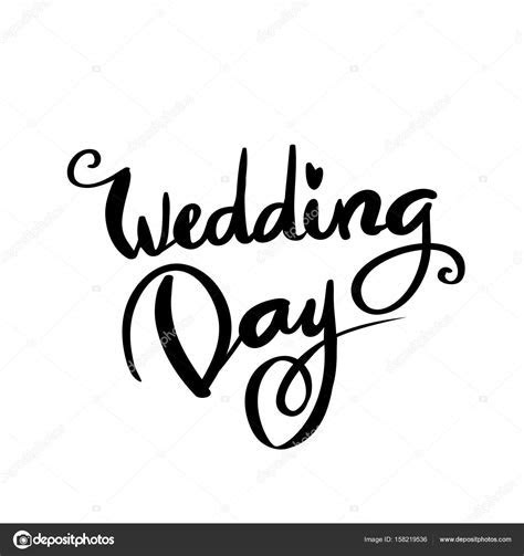 Wedding Day Calligraphy for design ? Stock Vector © Ivanna