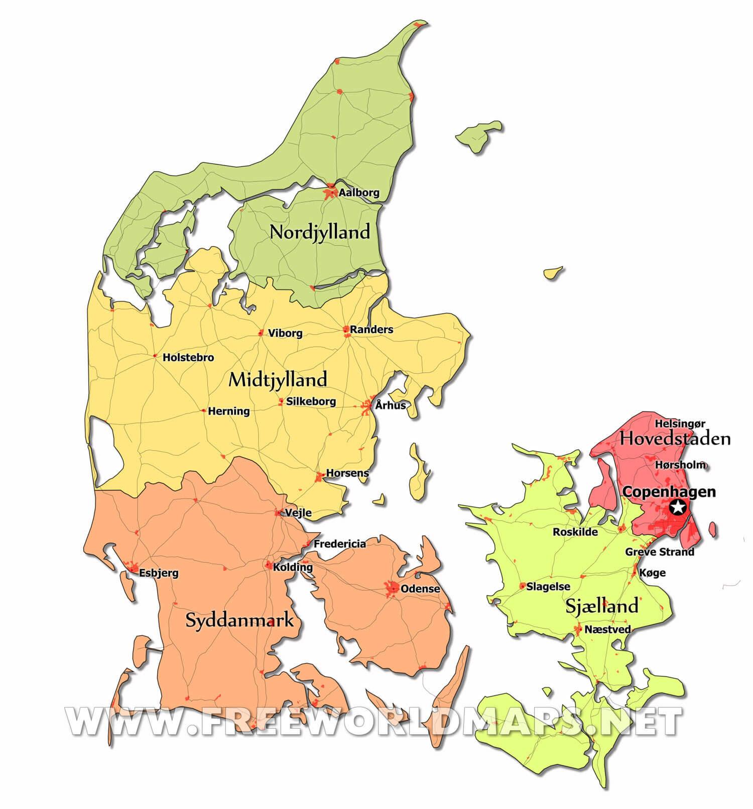 Denmark Maps By Freeworldmaps Net
