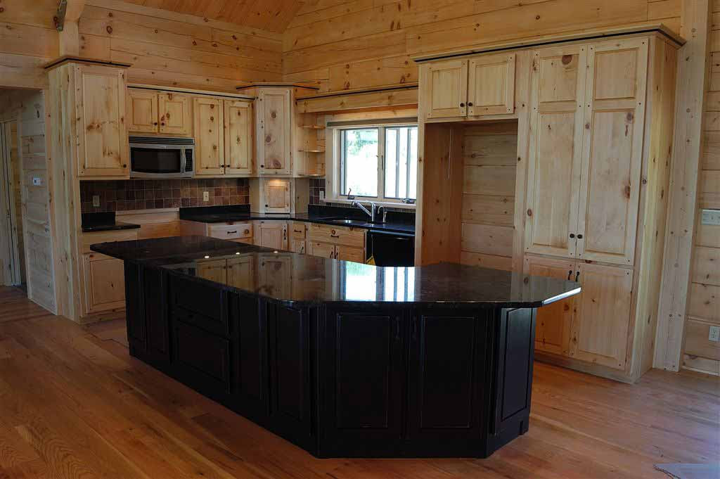 Hand Crafted Solid Pine Kitchen Cabinets: Mitrick