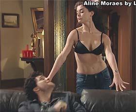 Aline Moraes sensual em vários trabalhos
