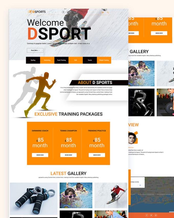 DSports – Free MultiPurpose Html Template