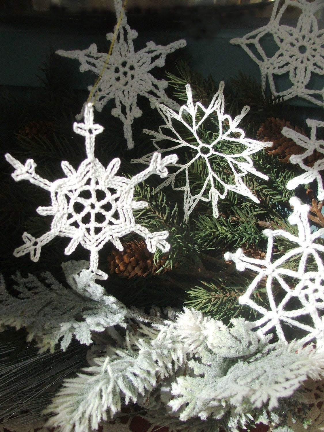 PATTERNS - Christmas Snowflake Ornaments - Susan's Easy Collection