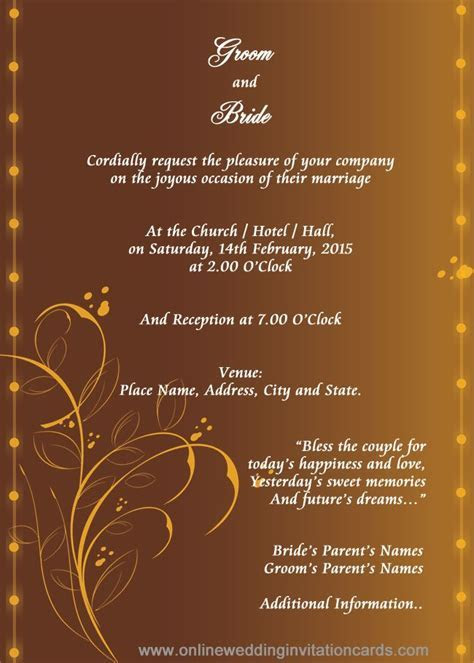 Marriage Invitation Card Template   Wedding Images in 2019