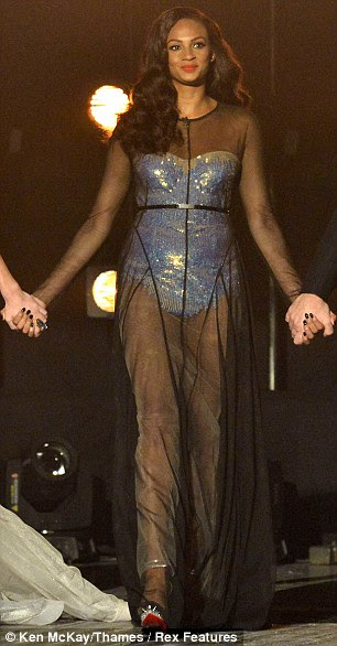 Strictly awful: I fell in love with Alesha Dixon during BGT: she has such an open, beautiful face, and a big dirty laugh. But this dress is truly terrible: she looks like a circus performer at a funeral