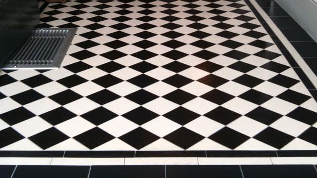 Black And White Floor Tiles Circus - Quoteko.