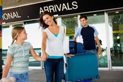 Famliy at the airport