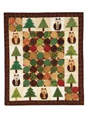 Hoo's in the Tree Wall Hanging Pattern - Electronic Download